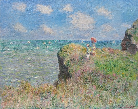 The Cliff Walk at Pourville – Claud