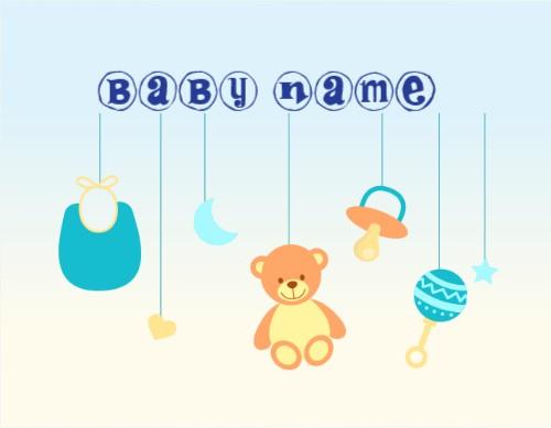 Baby design canvas