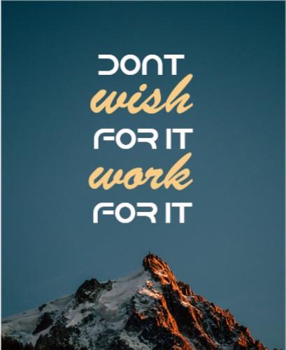 Motivational canvas