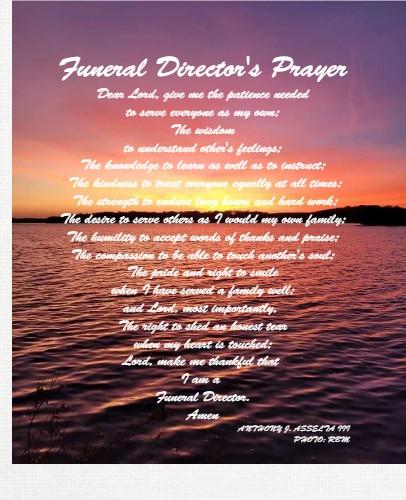 Funeral Director's Prayer
