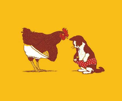 Chicken and Cat Underwear