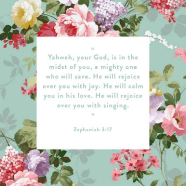 Bible Scripture Zephaniah 3:17