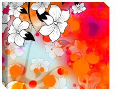 Tropical Flower Motif Image
