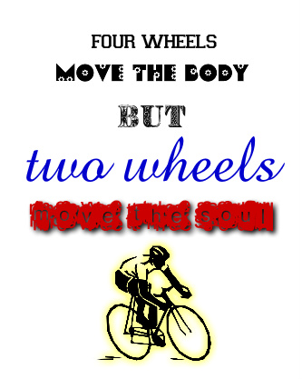 Four wheels move the body, but two