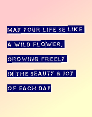 May Your Life be Like a Wildflower