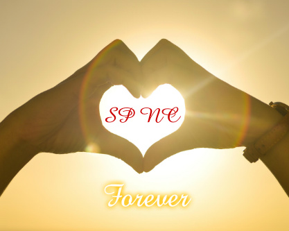 Initials in Hands / Forever